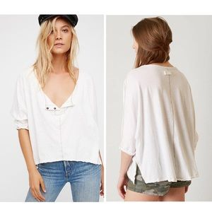 Free People | We The Free White First Base Henley